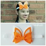Bunny Felt Bow Headband Easter Headband (Carrot)